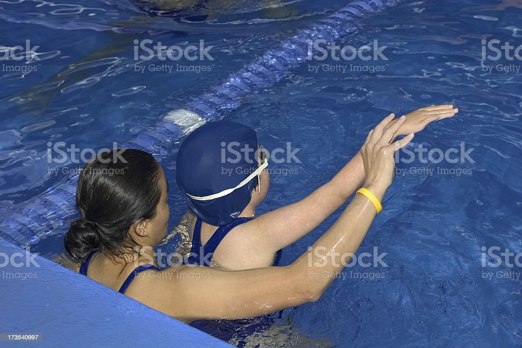 learning to swim royalty-free stock photo