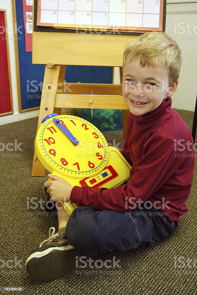 learning to tell time stock photo