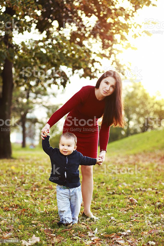 Learning to walk royalty-free stock photo
