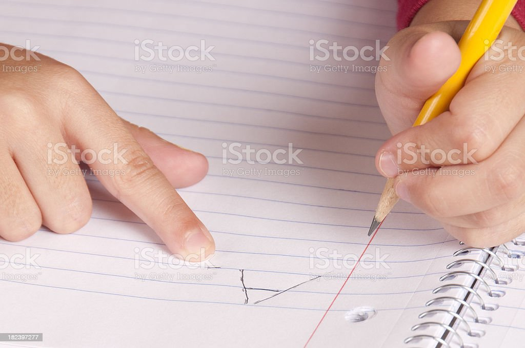 Learning to Write stock photo