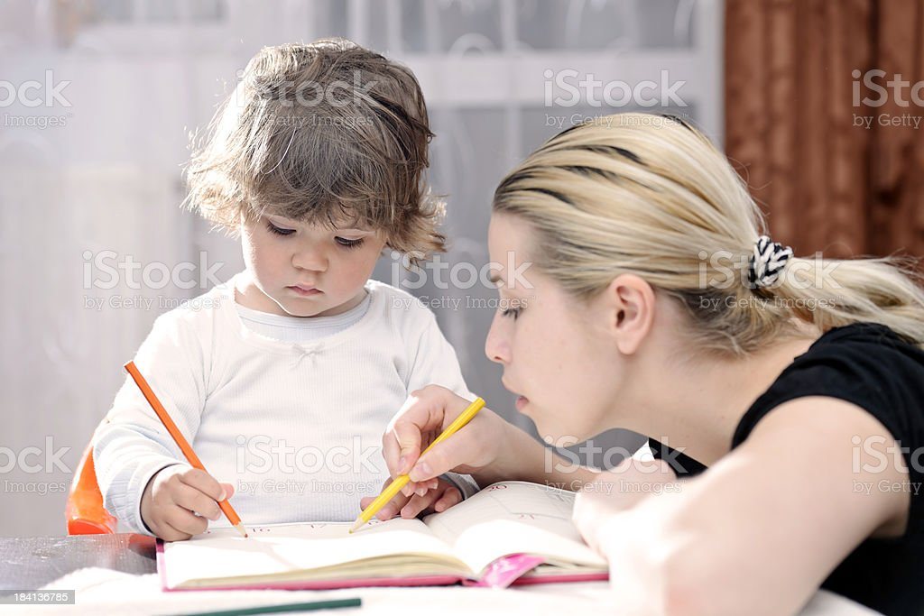 learning to write royalty-free stock photo