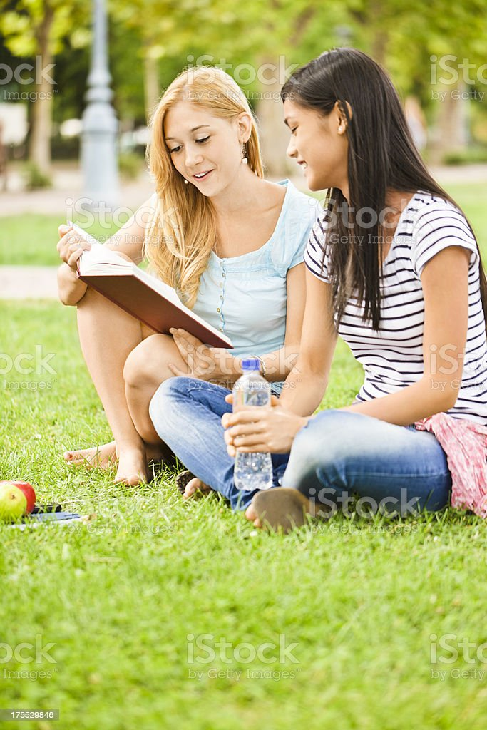 Learning together royalty-free stock photo