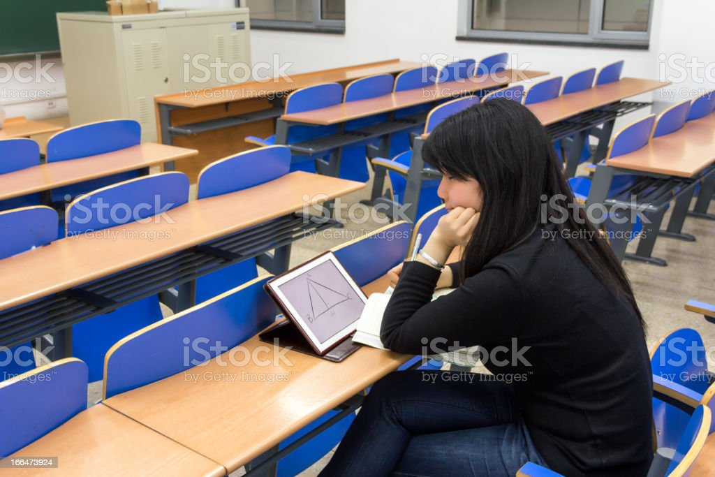Learning with a tablet pc royalty-free stock photo