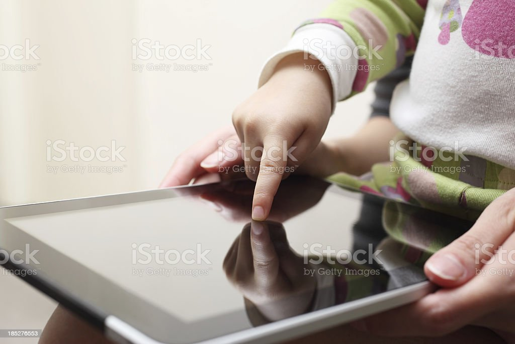 Learning with Touch Screen Tablet royalty-free stock photo