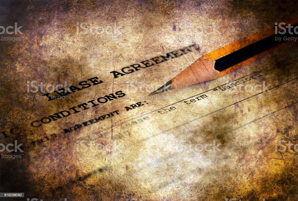 Lease agreement grunge concept stock photo