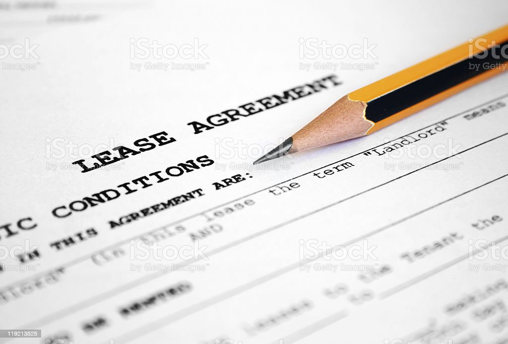 Lease agreement  Business Stock Photo