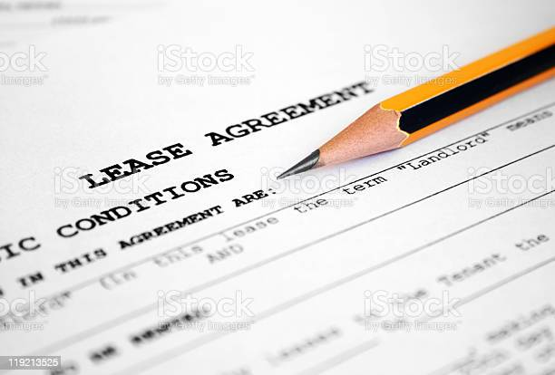 Lease Agreement Stock Photo - Download Image Now