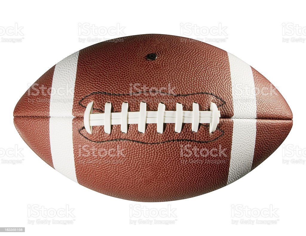 Leather American football on white background royalty-free stock photo