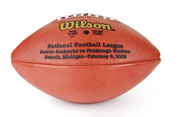 leder-american football superbowl xl seattle seahawks gegen die pittsburgh steelers - own wilson stock-fotos und bilder