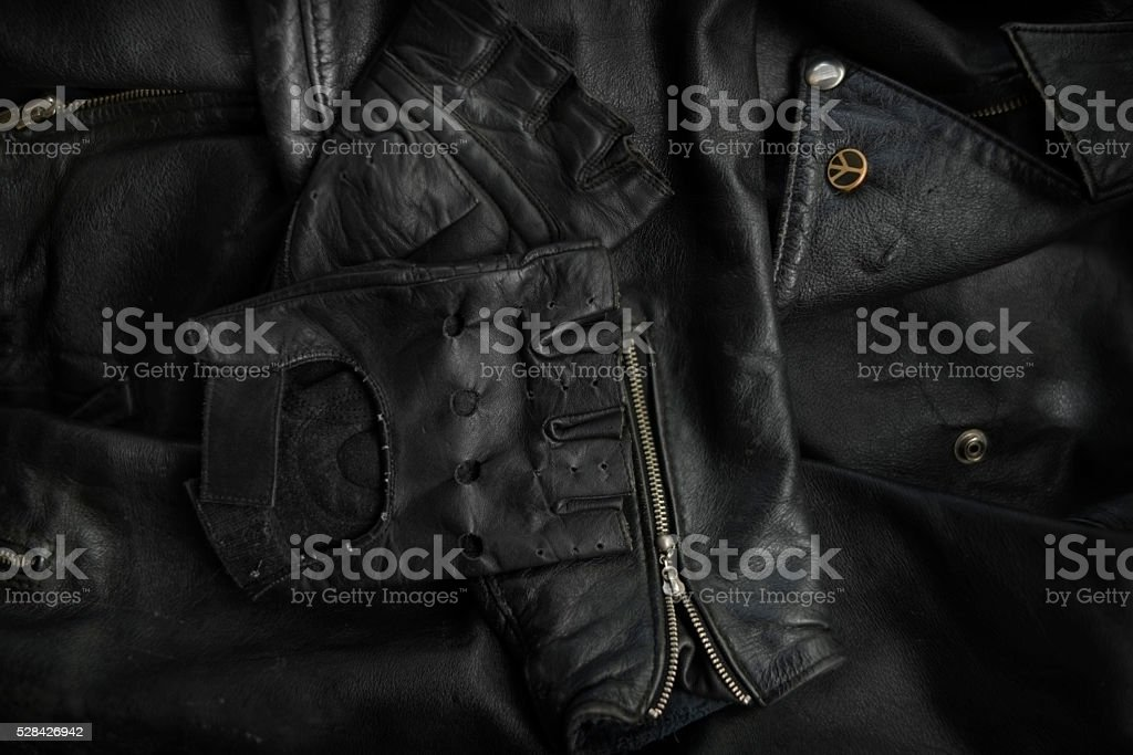 leather and gloves stock photo