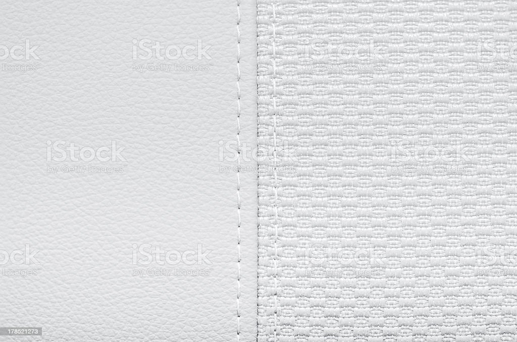 Leather and textile jointed stock photo