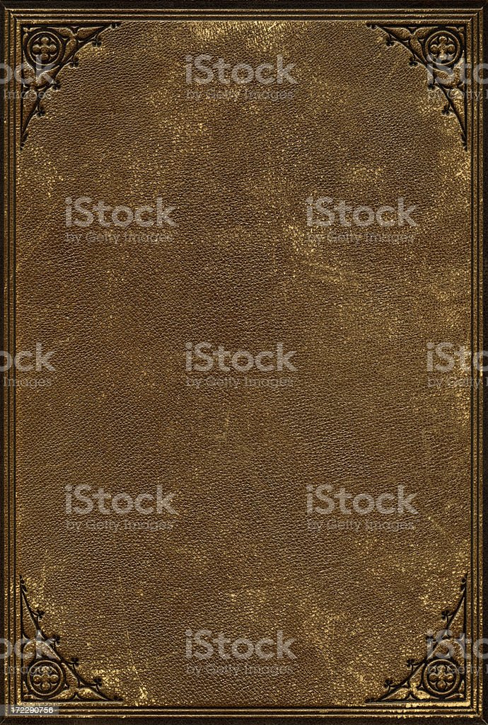 Leather Antique Book Cover stock photo