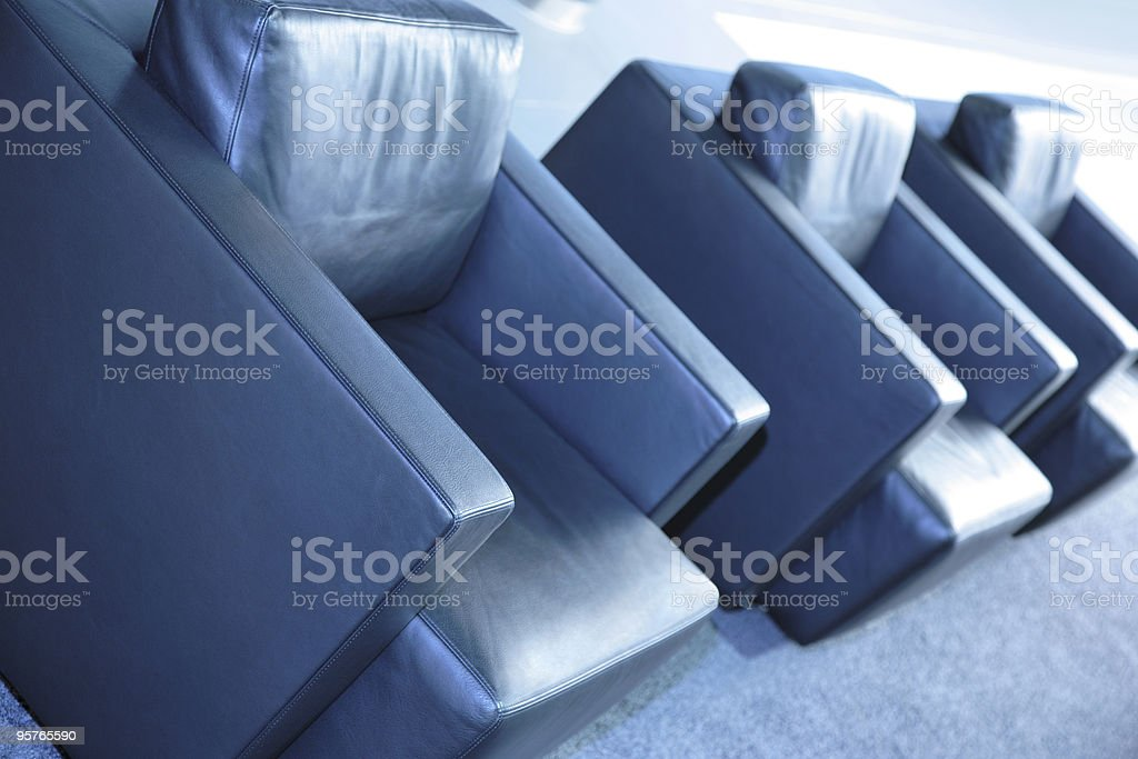Leather Armchairs in Waiting Area royalty-free stock photo