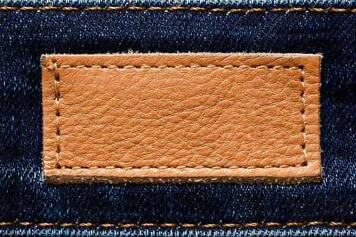 istock Leather badge 891123192