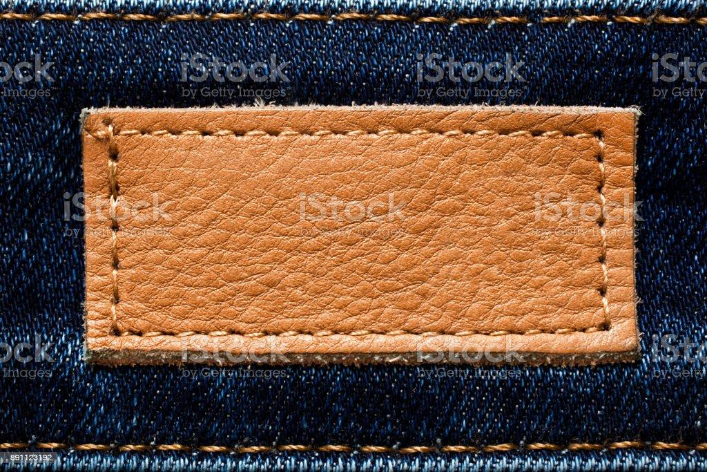 Leather badge stock photo