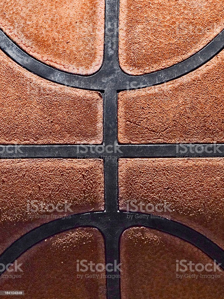 Leather Basketball Detail royalty-free stock photo