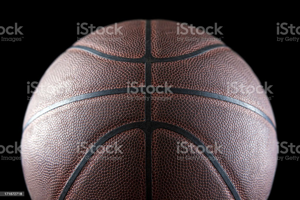 Leather basketball royalty-free stock photo