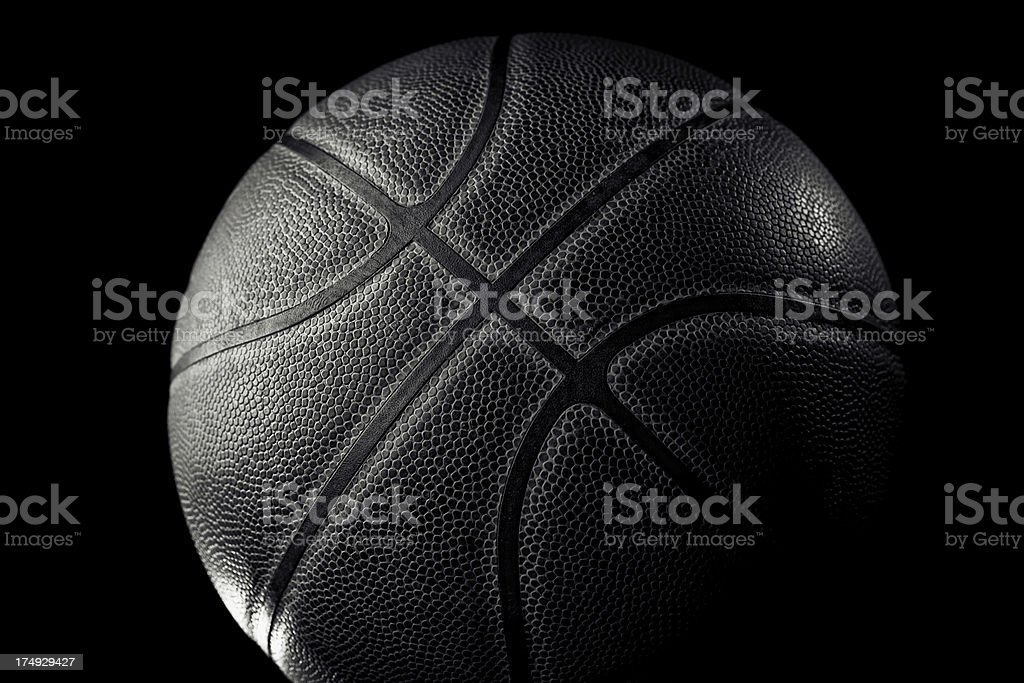 Leather basketball stock photo