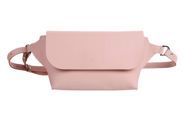 leather belt bag isolated - waist bag stock photos and pictures