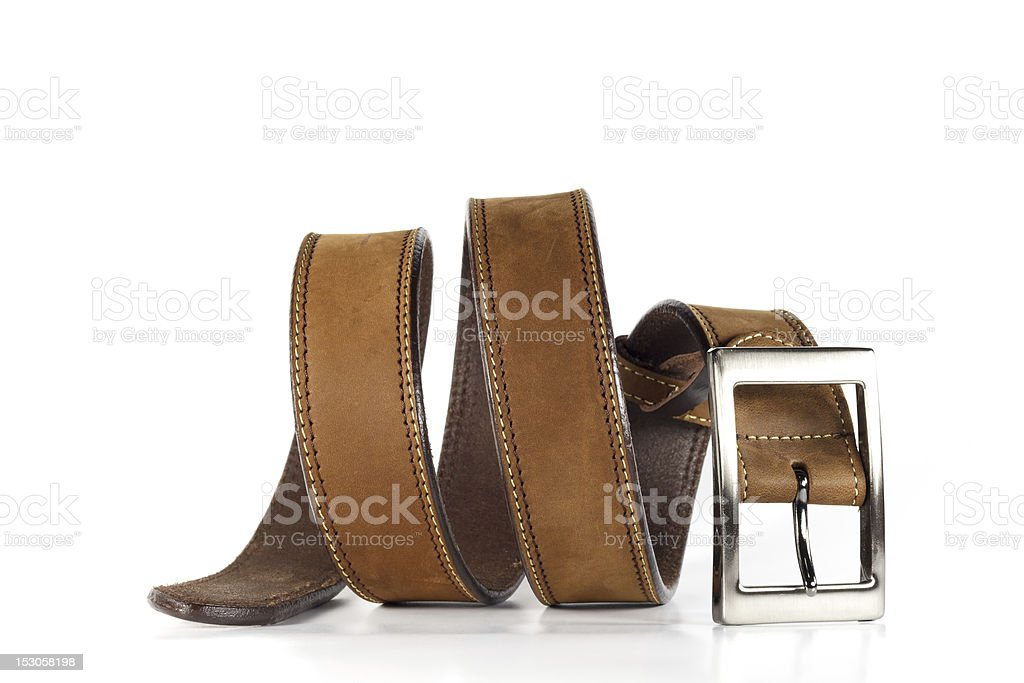 Leather belt for men. stock photo