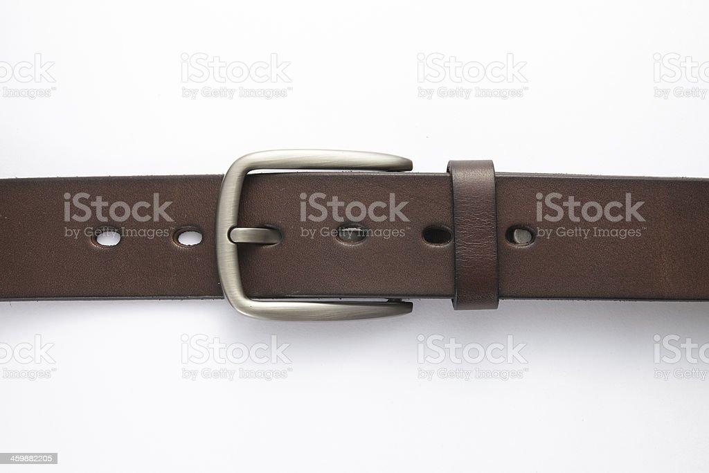 Leather belt isolated on white background stock photo