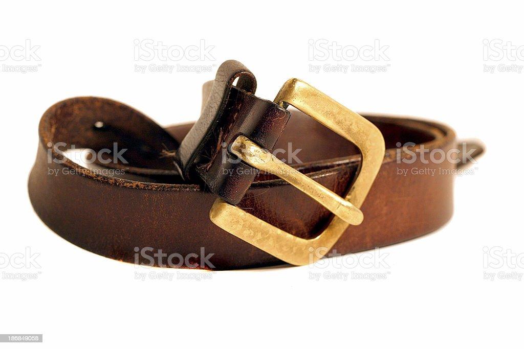 Leather belt royalty-free stock photo