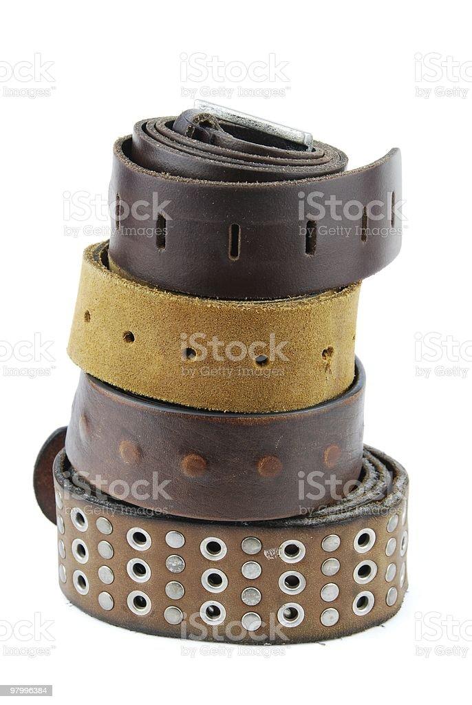Leather belts royalty free stockfoto