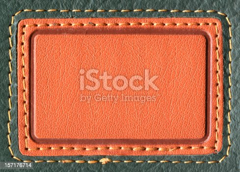 istock Leather Blank Jeans Label 157176714