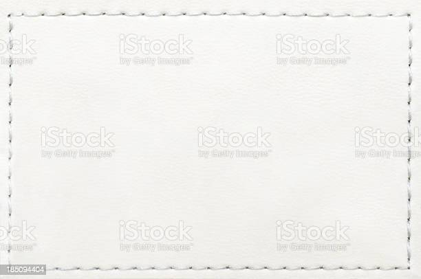 Leather blank jeans label...