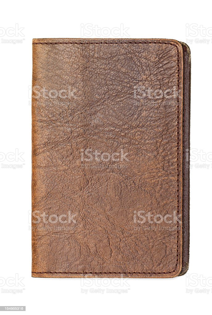 Leather Book, Diary Notebook Cover stock photo