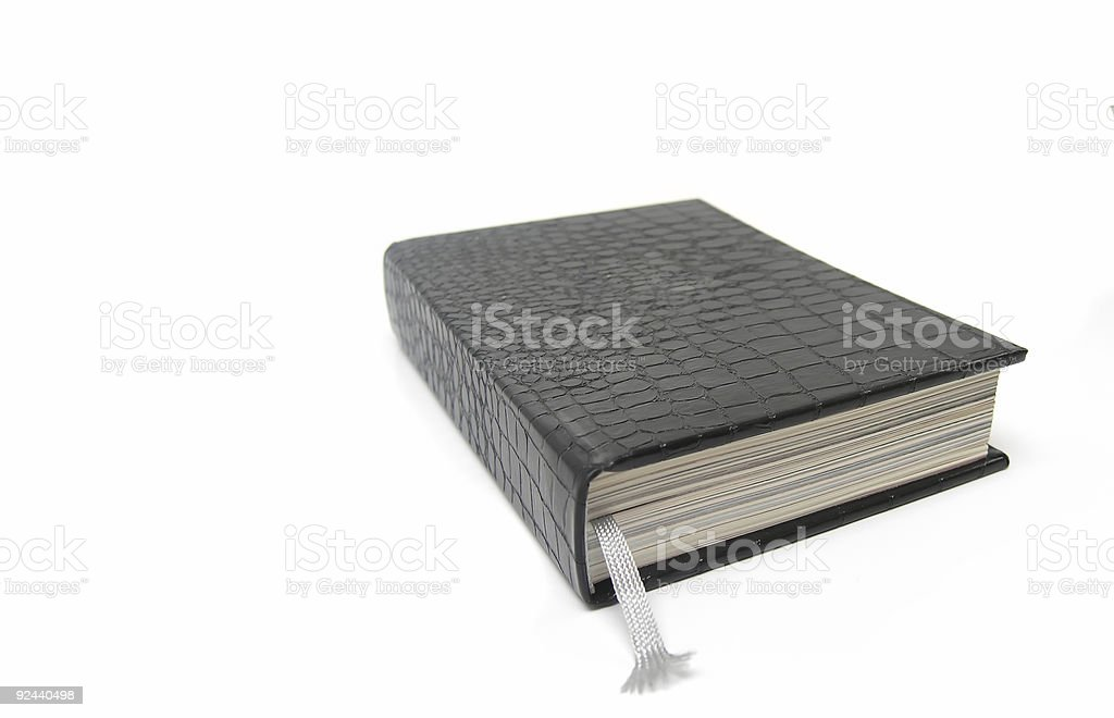 leather book with bookmark royalty-free stock photo