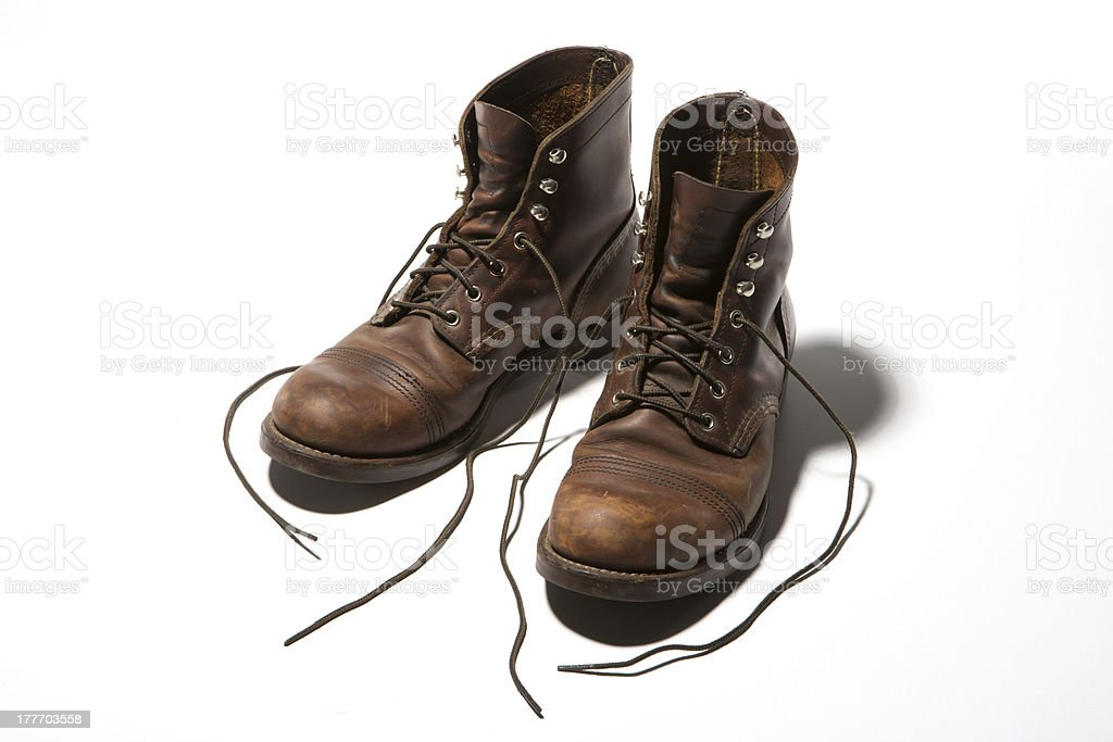 Leather Boot stock photo