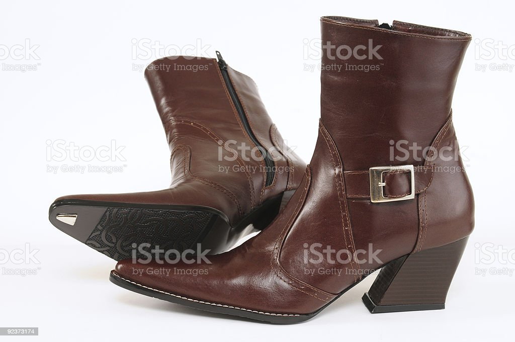 Leather boots. royalty-free stock photo