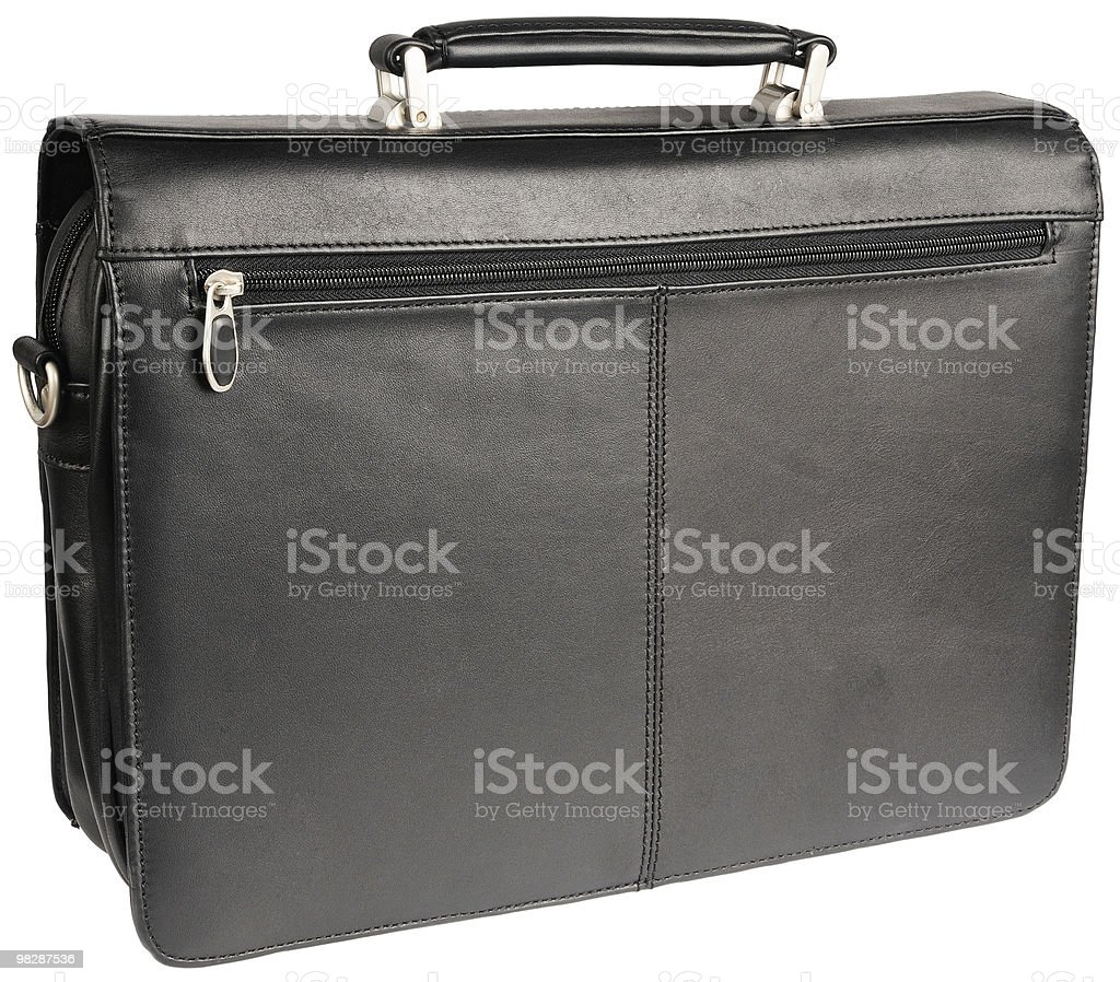 Leather briefcase royalty-free stock photo