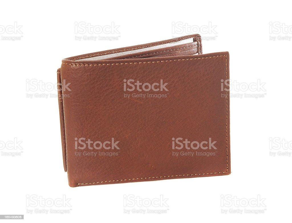 Leather brown wallet royalty-free stock photo