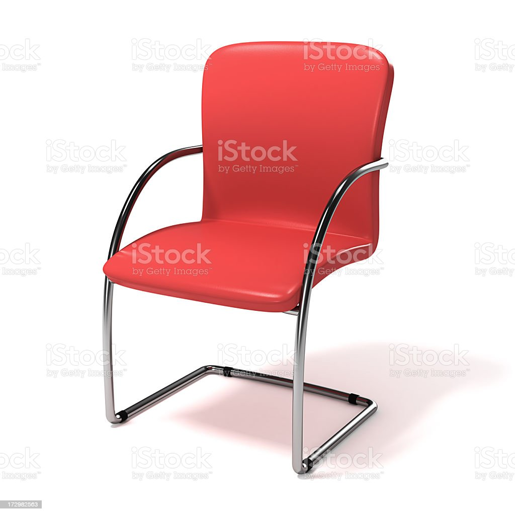 Leather Cantilever Visitor Chair royalty-free stock photo