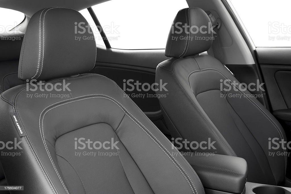 Leather Car Interior stock photo