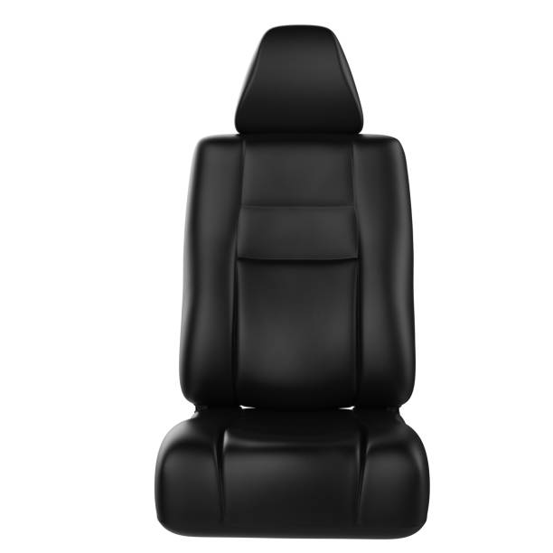 leather car seat stock photo