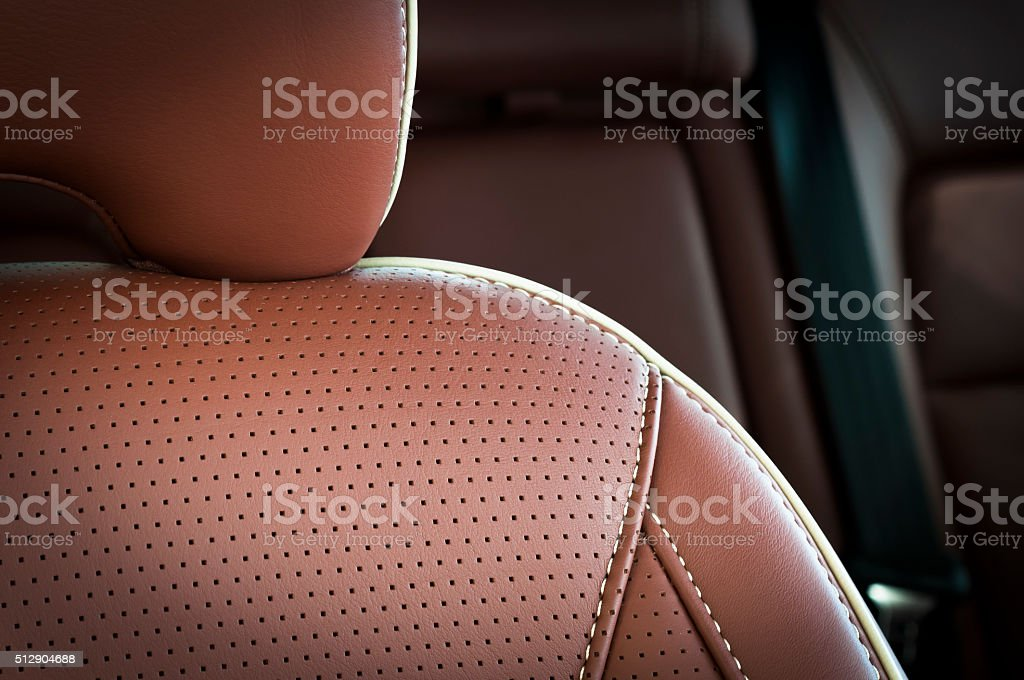 Auto-Sitze-detail mit Fokus auf Strick – Foto