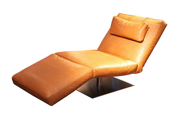 Leather chaise longue Leather chaise longue isolated included clipping path chaise longue stock pictures, royalty-free photos & images