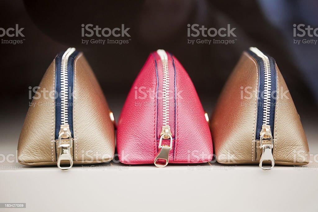 Leather Cosmetics Bags stock photo