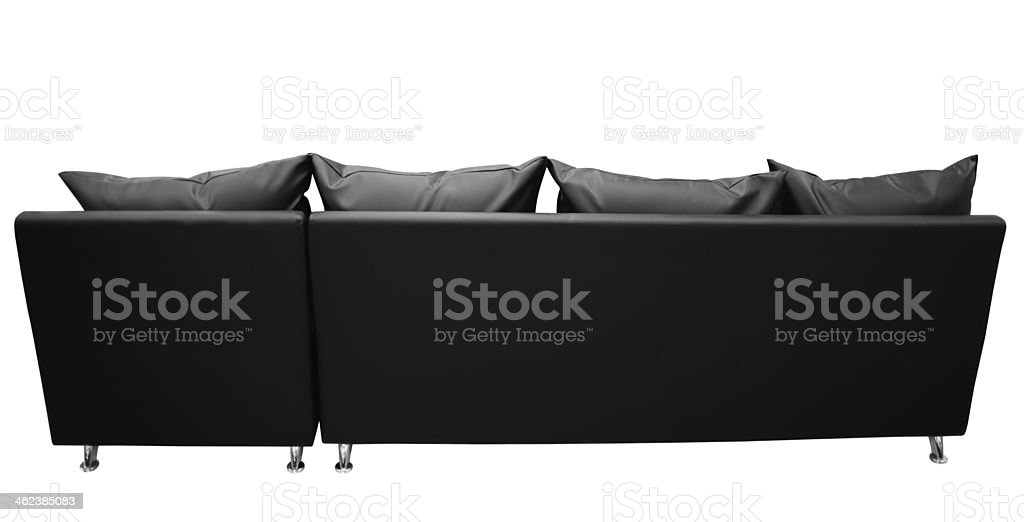 Leather couch. Clipping path stock photo