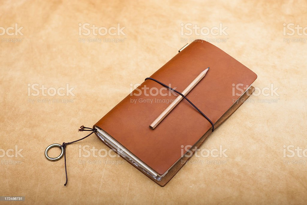 Leather Diary XXXL royalty-free stock photo
