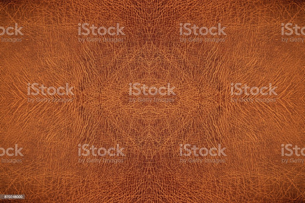 leather embossed, Brown crack patterned background. stock photo