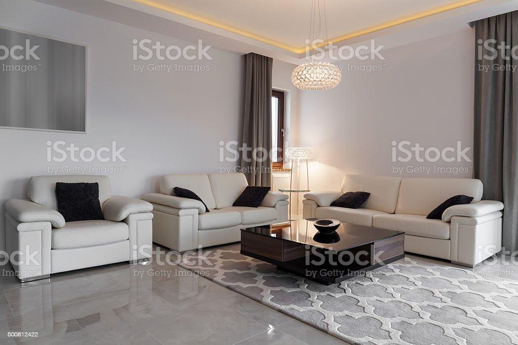 Leder In Eleganter Loungemöbel Stockfoto Und Mehr Bilder Von