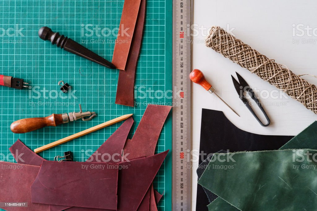 work space leather handmade designer