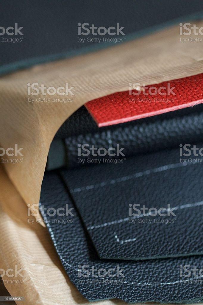 Very fine, full grain Goatskin leather.