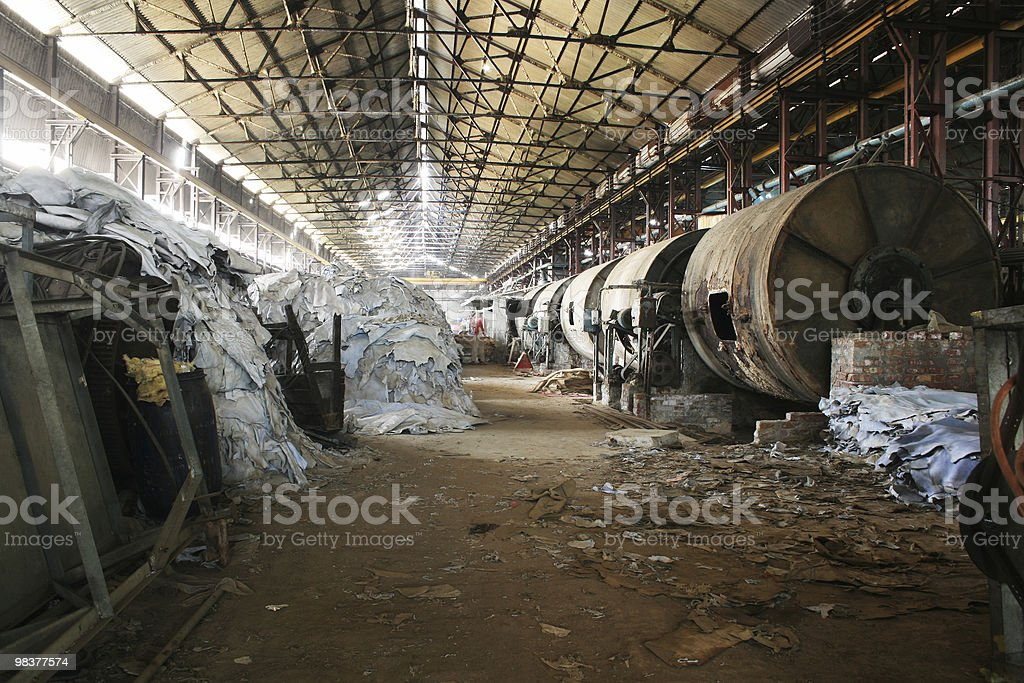 Leather Industry royalty-free stock photo