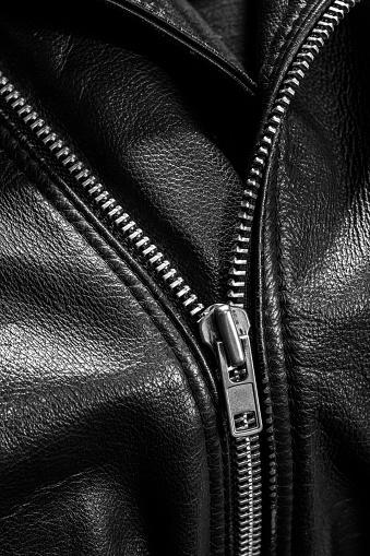 672414164 istock photo leather jacket close up 871414386