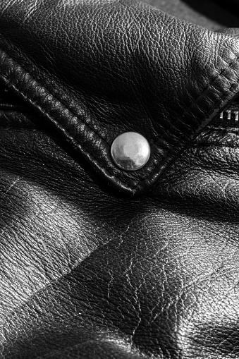 672414164 istock photo leather jacket close up 871414418